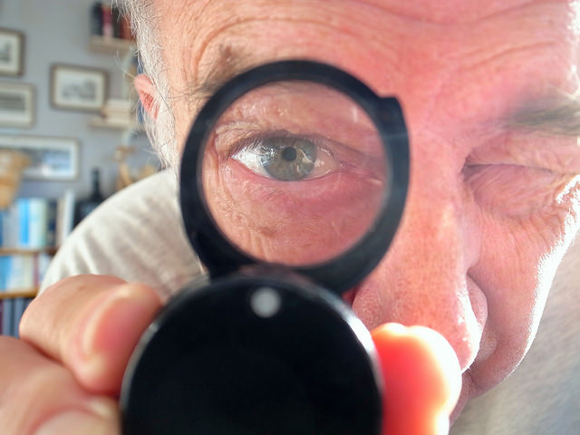 creativity, magnifying glass