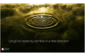 ripples, creativity, release