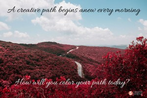 creative, creativity, creative path, red