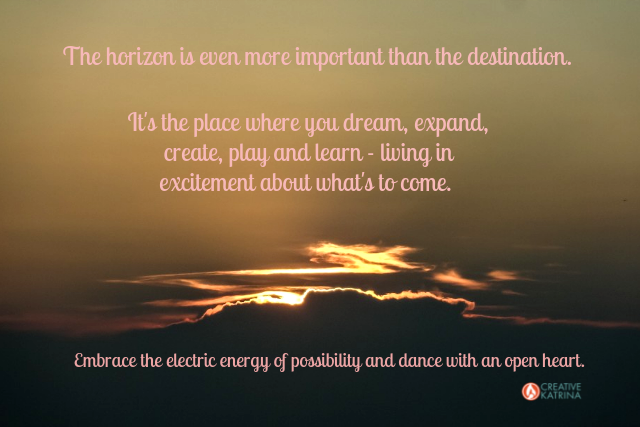 open-hearted, creative, creativity, mindfulness, horizon, sun