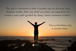 limitation, challenges, success story, ocean, sunset, person with arms wide open