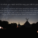 creative self-care, creativity, mindfulness, night sky, holiday season