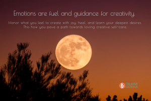 emotions, creativity, creative self-care, mindfulness, mind, body, spirit, full moon,