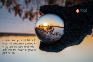 filters, discernment, creative, self-awareness, creativity, nature, glove, winter, perspective
