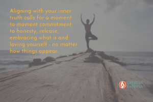aligning with your inner truth, creativity, creative expression, love, inner connection, yoga pose, dock, tree pose
