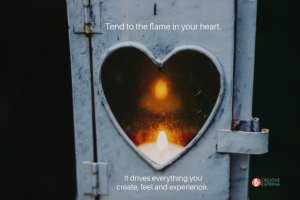 heart, creativity, flame, light, heart shape, mindfulness, self-expression, candle