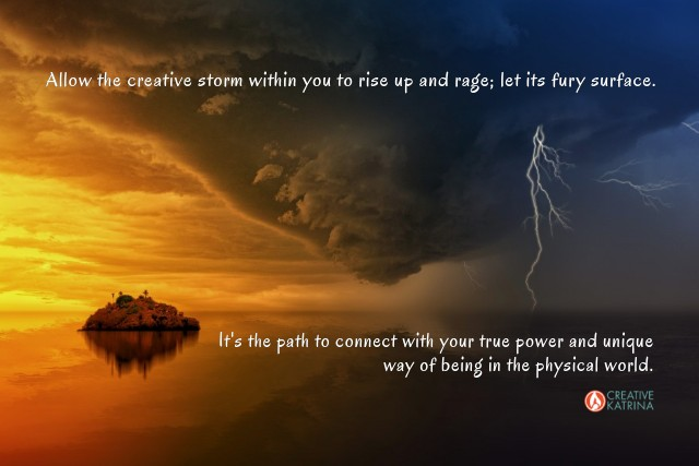 creative storm, creativity, creative katrina, self expression, joy, path to self, storm, lightning, path