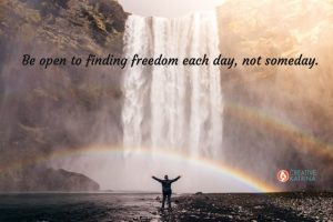 freedom, creativity, creative, Creative Katrina, mind, body, spirit, rainbow, waterfall