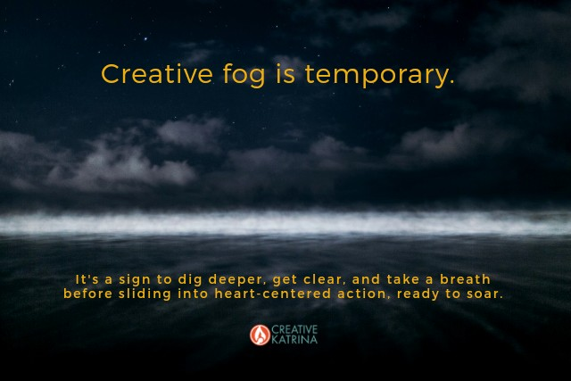 creative fog, creativity, self expression, transformation, mindfulness, temporary, night sky, Creative Katrina