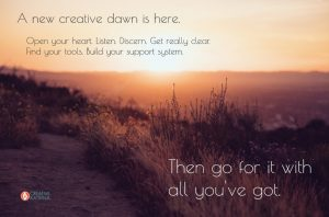 creative dawn, creativity, new year, sunrise, perspective, listening, being reborn, reset
