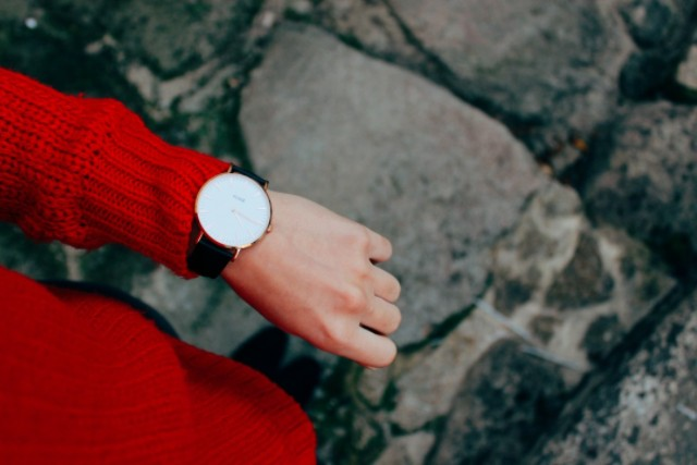 creative, creative entrepreneur, time, time table, watch, red sweater, root chakra