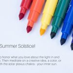 color, creative katrina, summer solstice, rainbow markers