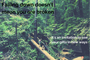 Falling Down Can Be the Best Creative Learning