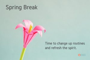 Change Up Routines, Refresh the Spirit