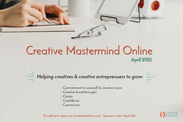 #creativemastermind #creativemastermindonline #April2021 #community #commitment #creatives #creativentrepreneurs
